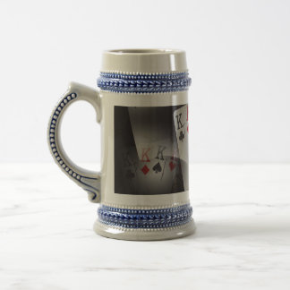 Poker_Quad_Kings_Blue_Beer_Stein_Mug. Beer Stein