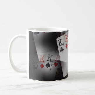 Poker_Quad_Kings,_White_Coffee_Mug. Coffee Mug