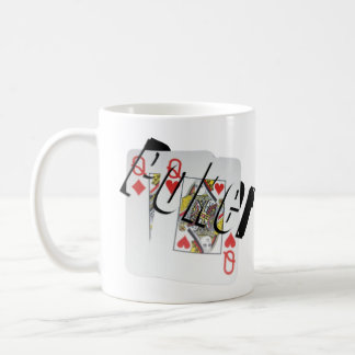 Poker Queens Dimensional Logo Coffee Mug. Coffee Mug