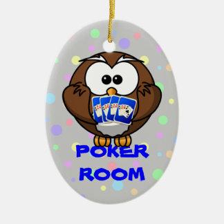 poker room ceramic oval ornament
