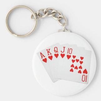 Poker Royal Flush Keychain