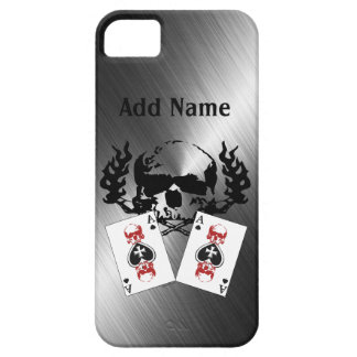 Poker Skulls Chrome Custom iPhone 5 Cases