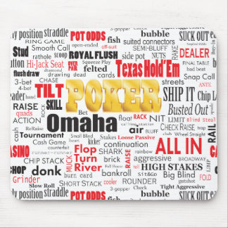 Poker Slang Mouse Pad