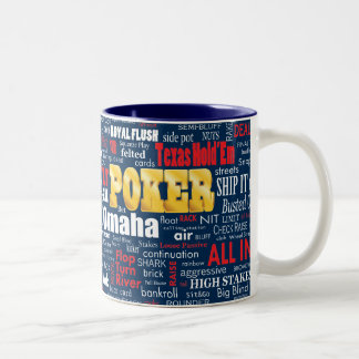 Poker Slang Two-Tone Coffee Mug