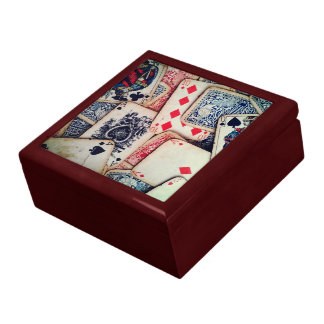 """Poker"" Small 5.125"" Square Tile Gift Box"