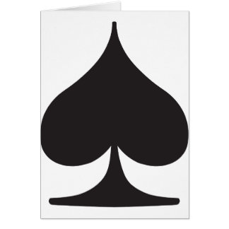 Poker Spade Suit Gambling Greeting Card