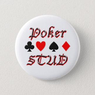 Poker Stud 2 Inch Round Button