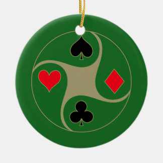 Poker Suits Christmas Ornament