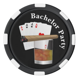 Poker Theme Bachelor Party Invite Poker Chip