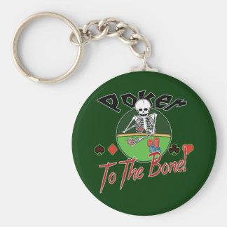 Poker To The Bone! Basic Round Button Keychain