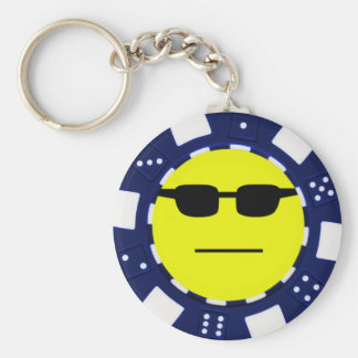 pokerface blue keychain
