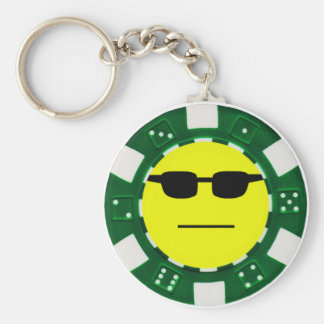 pokerface green keychain