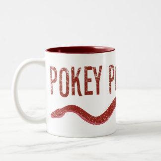 """Pokey Pokey Poke"" Two-Tone Coffee Mug"