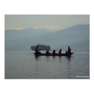 Pokhara Phewa Lake Boating Postcard