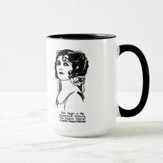 Pola Negri 1923 vintage newspaper illustration Mug