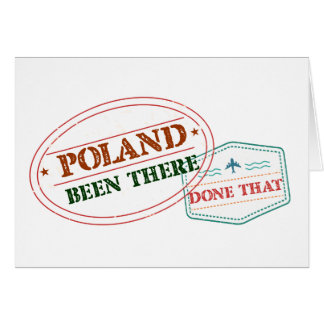 Poland Been There Done That Card