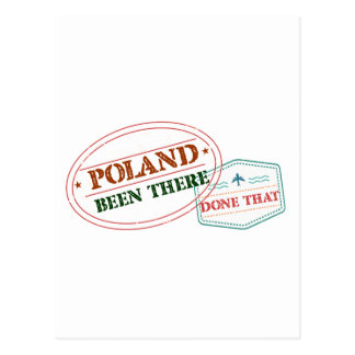 Poland Been There Done That Postcard