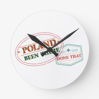 Poland Been There Done That Round Clock