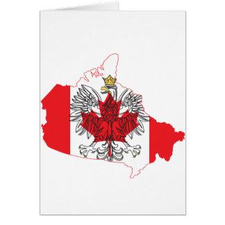 Poland Canada Flag Map Card