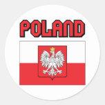 Poland Classic Round Sticker