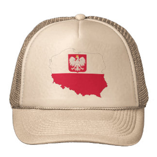 Poland crest map cap trucker hat