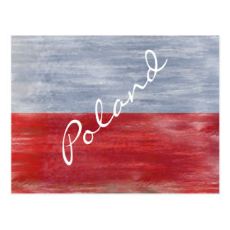 Poland distressed Polish flag Postcard