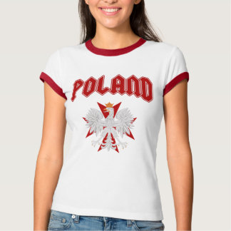 Poland Eagle Red Cross t shirt