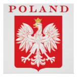 Poland Eagle Red Shield Poster