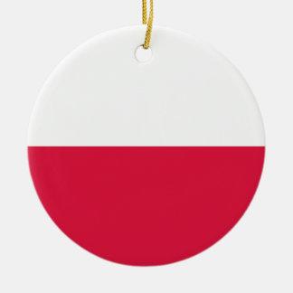 Poland Flag Ceramic Ornament