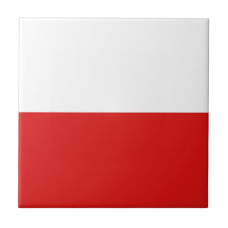 Poland Flag Ceramic Tile