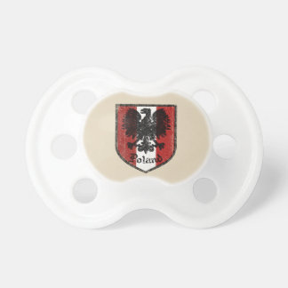 Poland Flag Crest Baby Pacifier