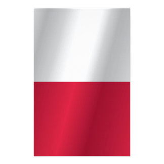 Poland flag customized stationery