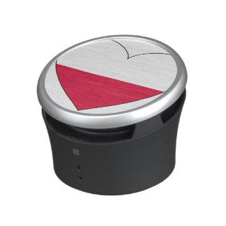 Poland Flag Heart Speaker