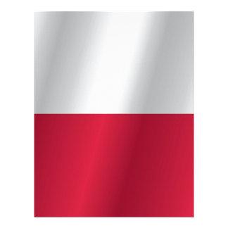 Poland flag letterhead