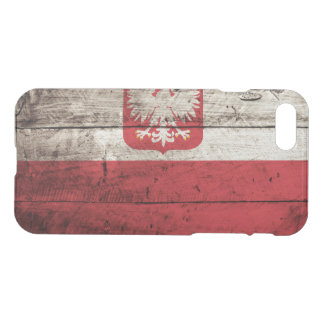 Poland Flag on Old Wood Grain iPhone 7 Case