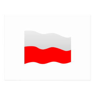 Poland Flag Postcard