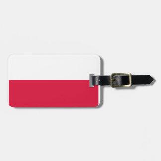 Poland Flag Travel Bag Tags