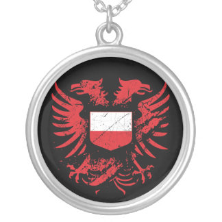 Poland Grunged Silver Plated Necklace