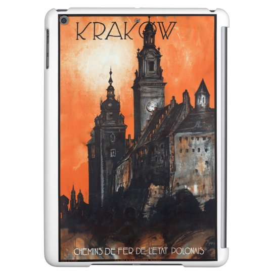 Poland Krakow Vintage Travel Poster Restored iPad Air Case