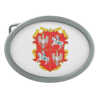 Poland-Lithuania Commonwealth (Rise of Roses) Oval Belt Buckle