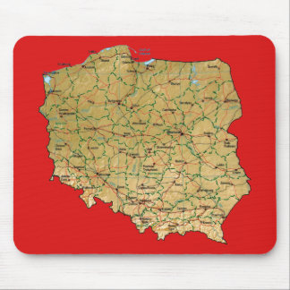 Poland Map Mousepad