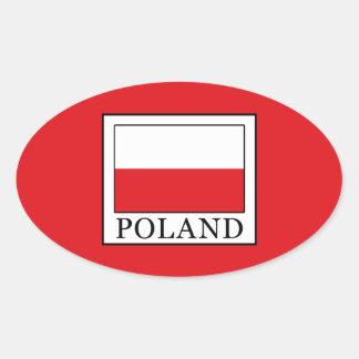 Poland Oval Sticker