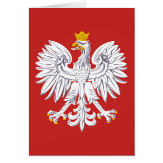 Poland Patriotic Crest with Eagle Card