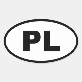 Poland PL European Oval Stickers