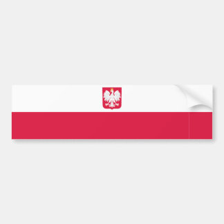 Poland/Pole/Polish Flag Bumper Sticker