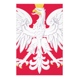 Poland Polish coat of arms Customized Stationery