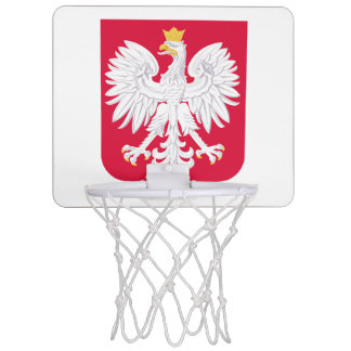 Poland Polish coat of arms Mini Basketball Hoop