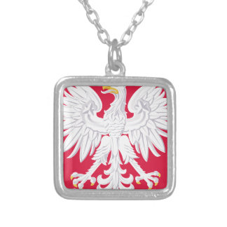Poland Polish coat of arms Silver Plated Necklace