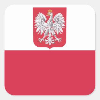 Poland Polish Eagle Crest Square Sticker