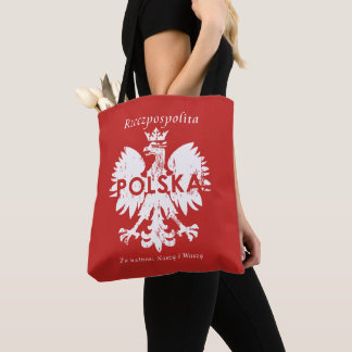 Poland Polska Eagle and Slogan Tote Bag
